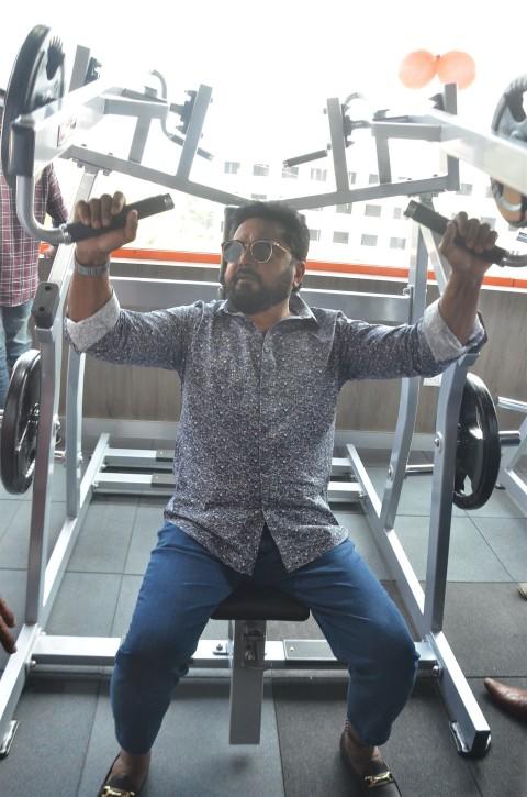 Actor Sarathkumar Inaugurated Flux Fitness Studio (10)