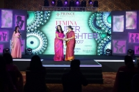 KRITHIKA SUBRAMANIUM PADMINI VISWANATHAN (R) at FEMINA SUPER DAUGHTERS AWARDS 2017