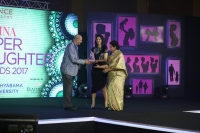 (L-R)TS JAISHANKAR, SHVETHA JAISHANKAR, RAJAM JAISHANKAR at FEMINA SUPER DAUGHTERS AWARDS 2017