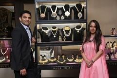 Vineet & Pooja Naheta from Jaipur Jewels with exhibits