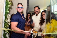 Adam Collins inaugurating the Page 3 salon at LB Road in the presence of CK Kumaravel & Veena Kumaravel