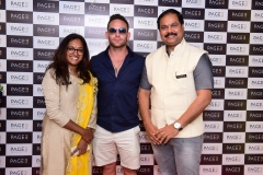Veena, Adam & CK Kumaravel at the launch of Page 3 Salon