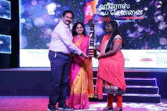 Award Category - Para Sports - Justin Vijay Jesudas. Justin's sister accepting the award on his behalf