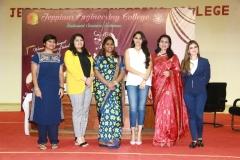 Sonal Jain, Reema, Regina, Andrea, Anupama & Alisha at the Jeppiar Engineering College Women's Day Special Panel discussion