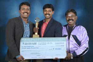 Director Arun Chidambaram along with Producer Dr. A. Chidambaram and Co-Producer Karthik Chidambaram